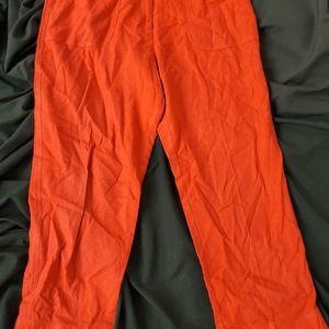 Pendelton red linen blend capri pants sz.10 vtg